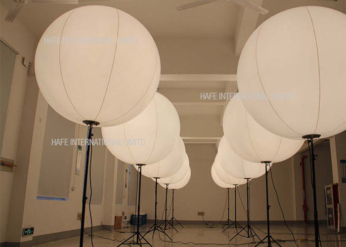 Moon Balloon Inflatable Tripod Led Lights For Wedding Reception Custom Logo Printed