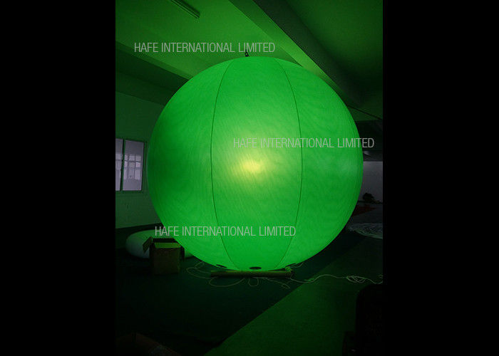 Advertising Air Lock Helium Balloon Lights , RGB LED Illumination Light Up Helium Balloons