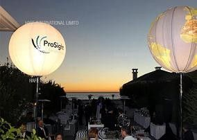 Halogen 2000W Event  Balloon Outdoor Wedding Reception Lighting With Advertising Branding Logo