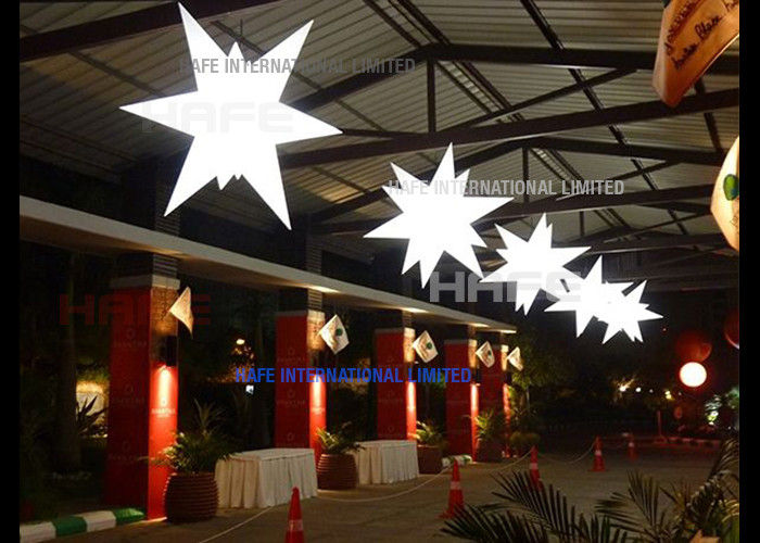 Space Night Decoration Inflatable Lighting Star With 2000W Halogen Lamp