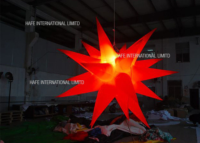 1000w Custom Inflatable Lighting Star Inflatable Lighting Decoration For Party Wedding Event