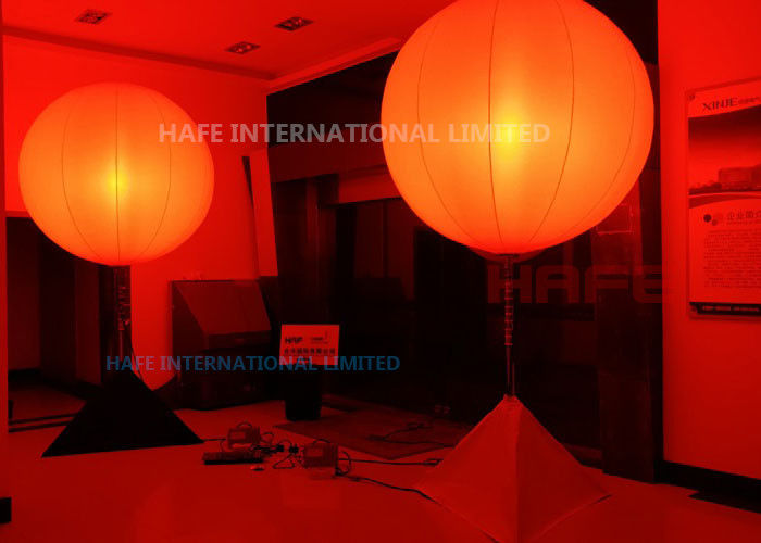 DMX Colored Inflatable Lighting Decoration Glow Balloons In Red Pink Yellow Orange 16 Colors