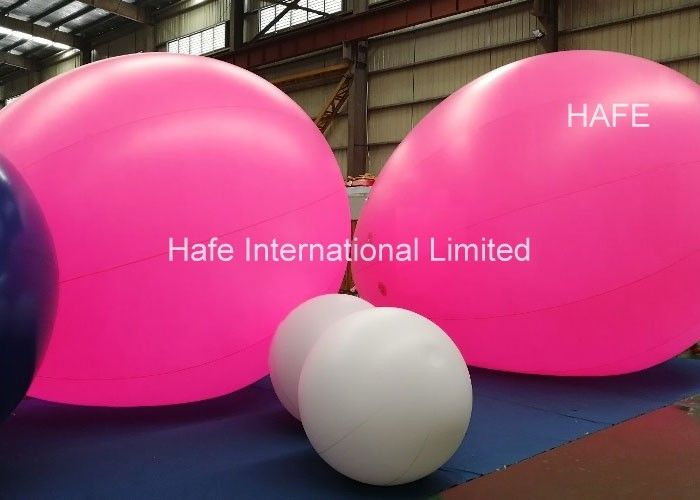 Lighted Helium Balloons With Led Lights For Advertising Trade Show Commercial